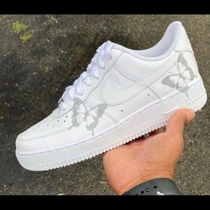Reflective butterfly custom air force 1